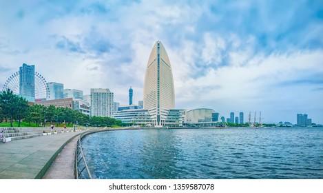View to InterContinental Yokohama Grand Hotel, Minato Mirai, Yokohama, Japan