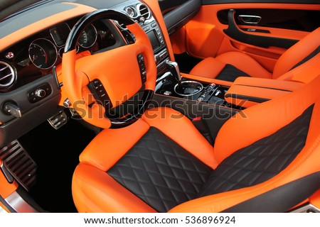 View Interior Modern Automobile Showing Dashboard Stockfoto (Jetzt ...