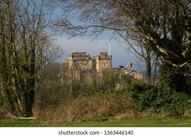 View of Inveraray Castle in Argyll Scotland