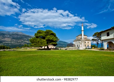 The view of Ioannina in Greece, Ali Pasha island