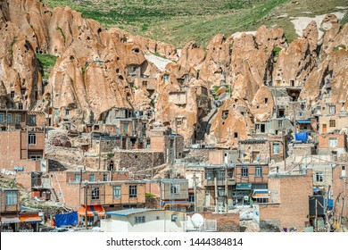 View of Iranian ancient  village Kandovan in East Azerbaijan. Iran. Province near Tabriz city.