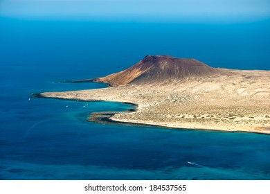 View of Isla Graciosa off the coast of Lanzarote