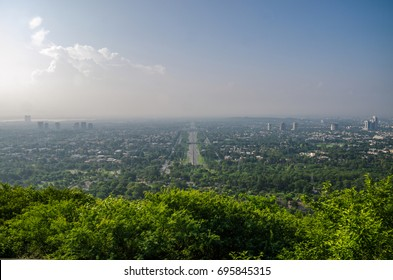 View of Islamabad City from Daman-e Koh Islamabad, The Capital City of Pakistan