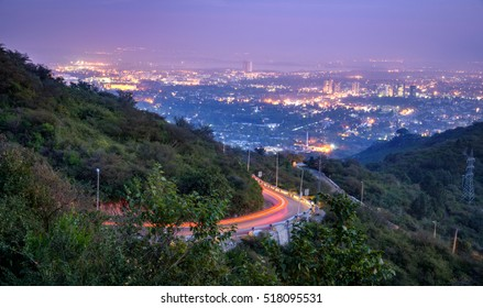 View of Islamabad from Margalla hill top.