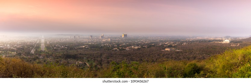 A view to Islamabad's skyline and Islamabad city from Daman-e-Koh