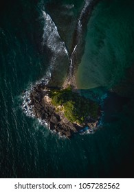 View of the island from above