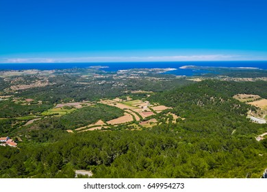 A view of the Island of Menorca from the highest mountain - mount toro