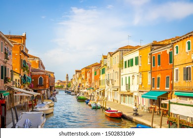 View of island of Murano in summer, Venice, Italy