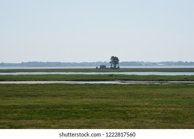 View to the island of Oie in Northern Germany