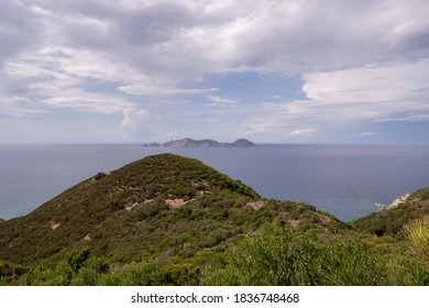View of the island of Palmarola from the island of Ponza in Italy