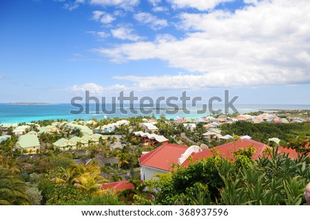 View of Island of Saint Martin in the Caribbean