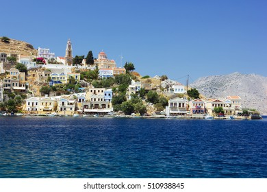 View of the island of Symi,Greece,Europe
