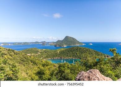 View of the islands of Terre-de-Haut. Les Saintes, Guadeloupe