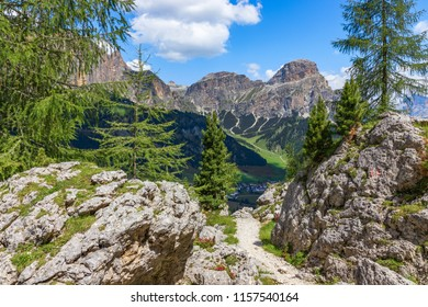 view of the Italian Alps (Italian Dolomites, Colfosco)