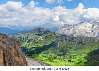 view of the Italian Alps from Piz Boe (Italian Dolomites)