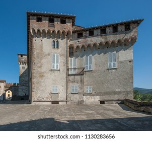 view of an Italian castle in Piedmont