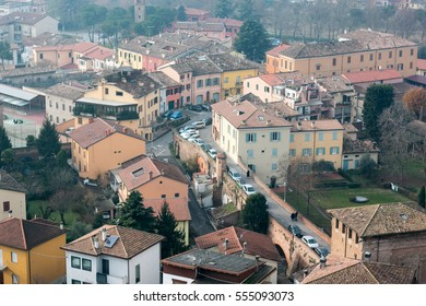 View to the Italian small town