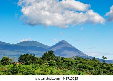 View of Izalco Volcano, El Salvador.
