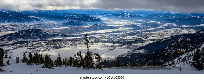 View of Jackson, Wyoming, from the top of Jackson Hole Ski resort