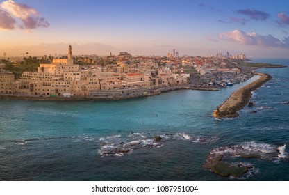 A view of Jaffa Old City Port near Tel Aviv, Israel.