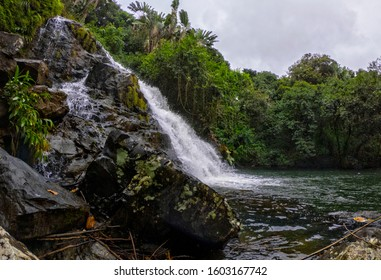 View of Jakaria waterfall hidden in the south-east of Mauritius island