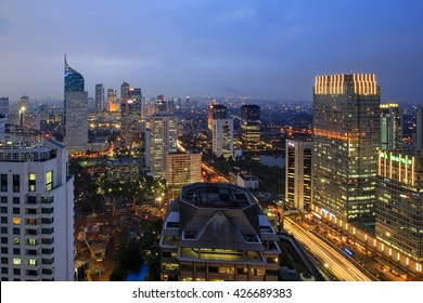 view of Jakarta City indonesia
