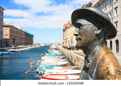 View of James Joyce statue, Trieste - Italy