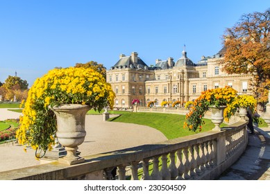 A view of a Jardin du Luxembourg (Luxembourg Garden) in Paris, France