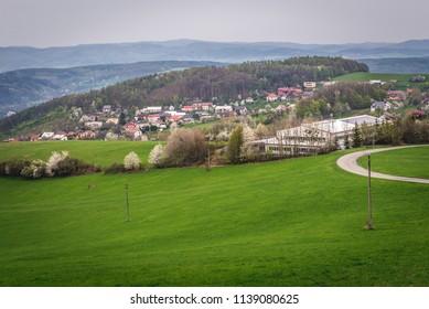 View in Jaroslavice, quarter of Zlin town in Czech Republic