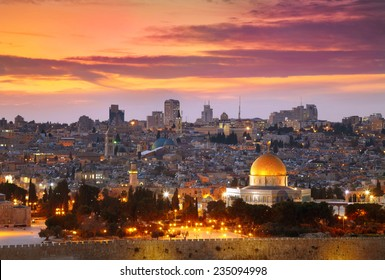 View of Jerusalem old city. Israel