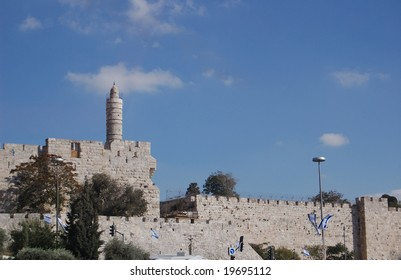 View of Jerusalem old city wall