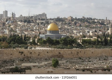 View of Jerusalem from Olive Mount, Israel