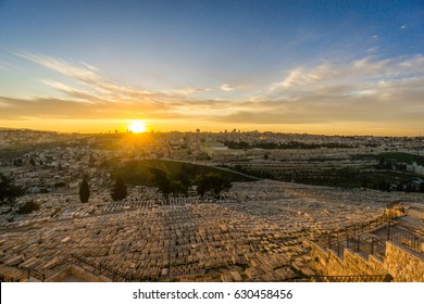 View of Jerusalem from Olive Mountain