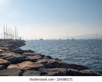 View from the jetty in Saint-Tropez, France