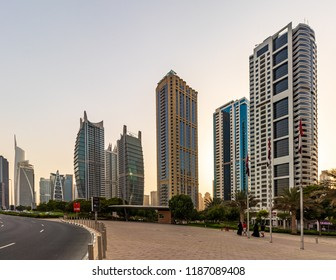 View of the JLT Area. Dubai - UAE. 20 July 2018