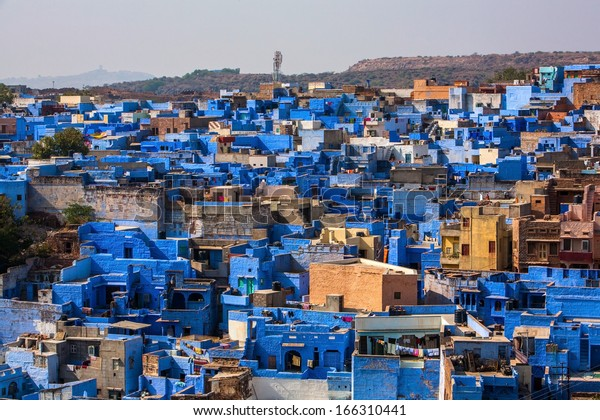 View of Jodhpur, the Blue City, Rajasthan, India