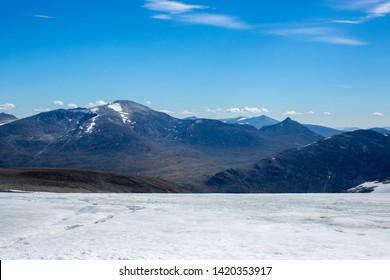 View of Jotunheimen near Galdhopiggen