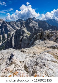 View of the Julian Alps from the top of the Prisojnik mountain