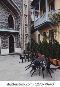 View of Juma Mosque and arabic style building in Old Tbilisi, Georgia