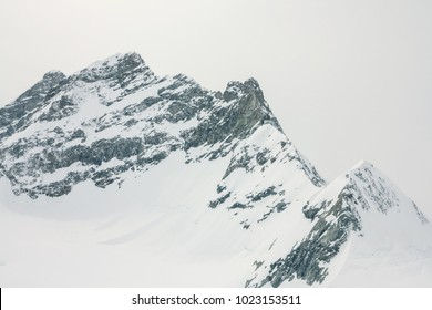 View from the jungfrau mountain summit towards the Aletsch glacier. Bernese Oberland, Switzerland. Swiss Alps