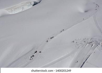 View in jungfraujoch, switzerland, europe