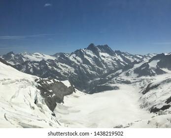 View from Jungfraujoch in Switzerland. Top of Europe.