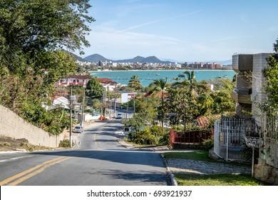 View of Jurere and Jurere beach - Florianopolis, Santa Catarina, Brazil