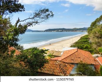 A view of Jurere Internacional beach from Bateria de Sao Caetano - Florianopolis, Brazil