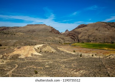 The view just south of picture gorge with the Mascall assemblage, John Day Fossil Beds National Monument, located in Wheeler County, Oregon.