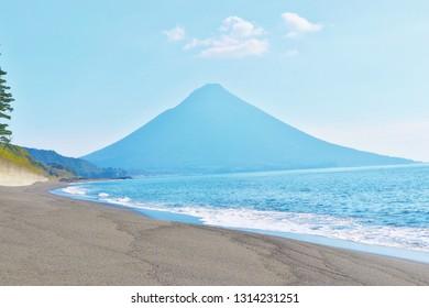 View of Kaimondake Mountain, Kagoshima