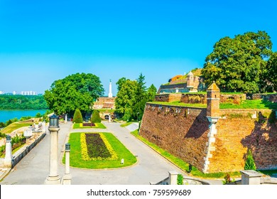 View of the kalemegdan fortress in Belgrade, Serbia