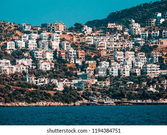 View of Kalkan Town, Which is on the Turkish Mediterranean coast.