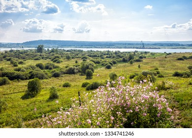 View Kama River (Volga tributary). Perm region. Central Russia