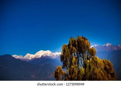View of Kanchenjunga from a distance